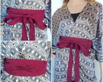 Organic Cotton Wrap Belt In Color Wine