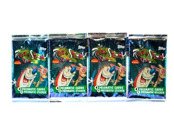 4 Ren & Stimpy Prismatic Card Packs Topps 1993