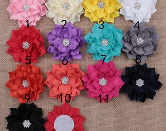 Set of 30 fabric flowers, wholesale fabric flowers, wholesale flowers, headband flower, hair flower, hair clip flower