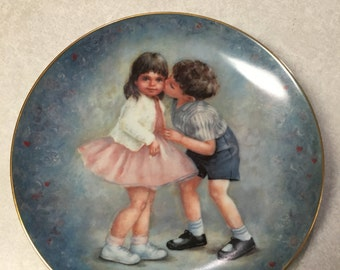 "Vintage ""First Kiss"" Plate"