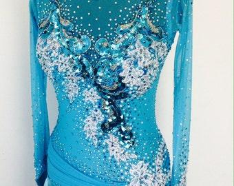 Blue Dance Dress        Smooth Dance Dress