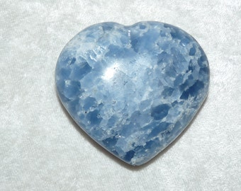 60 mm Premium Blue Calcite Mineral Heart  02