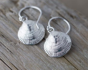 Sterling Silver Sea Shell Earrings, Sea Shell Jewelry, Gift for Women, Gift for Her, Beach Jewelry, Jewelry Handmade by Burnish