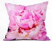 Throw Pillow: Pretty Peony. Nature Photography. Pink Throw Pillow. Living Room. Spring Home Décor. Cushion Cover. Floral Decorative Pillow