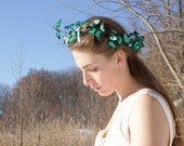 Wedding Chaplet Blue Butterflies Crown Hair Accessory Decoration Butterlflies Coronal bridal wedding hair