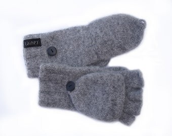 convertible mittens, felted wool mittens, size XS