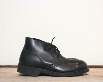 3 1/2 XW | Addison Shoe Co. Military Chukka Boot Steel Toe Deck Boot