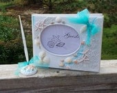 Beach Themed Bridal Shower,  Guest Book & Pen Set, Cake Cutting and Serving Set, RESERVED LISTING