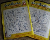 Two Aunt Martha's Hot Iron Transfers  New Old Stock