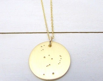 Orion Necklace | Gold Orion's Belt Charm | Star Necklace | Gold Orion Jewelry | Constellation Necklace | E Ria Designs