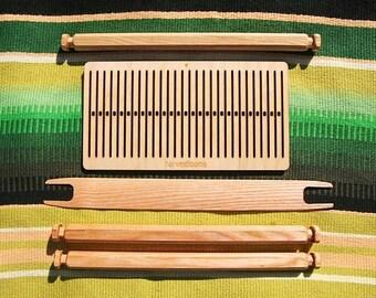 6dpi Eurotown Full set- backstrap loom, rigid heddle, handweaving, medival craft, viking craft, DIY weaving, learn to weave, loom kit