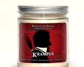 Christmas candle, Krampus, Krampus candle, Christmas decoration, holiday candle, soy wax candle, soy candle handmade, gift under 20, Krampus