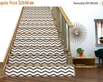 ON SALE - Chevron Your Stairs - Removable wallpaper - wallcovering - Vinyl wall sticker decal