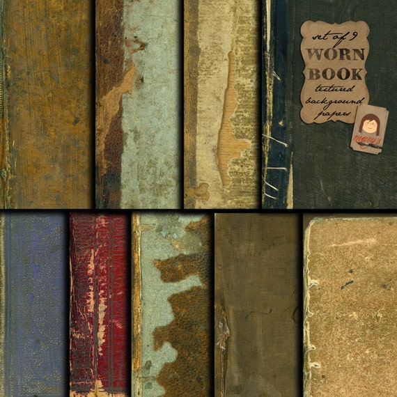 Worn Book Cover Texture : Worn book texture and background design papers digital