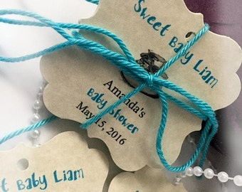 Baby Boy Gift tags - Baby Shower gift Tags-  Baptism Christening ( QTY 25)