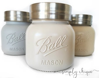 Mason Cookie Jar || Rustic decor || Home decor
