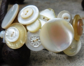 Vintage Mother-of-Pearl Button Cuff
