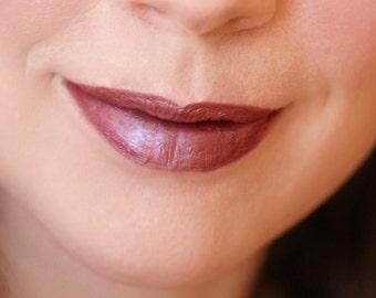Natural liptint - Tinted lip balm - SAVAGE - Organic - Brown burgundy mineral lipstick - Lip colour