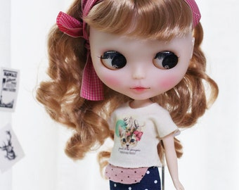Retro cat Casual - for Blythe, MocaPinoRu, Mary&Ann - doll outfit - by kreamdoll