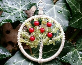 Silver-Plated Apple Tree  - Necklace - Keychain - Brooch