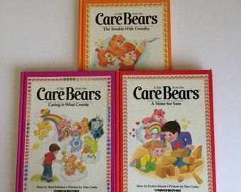 1980's Care Bears Hardcover Story Books