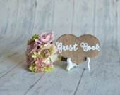 Rustic Wedding Guest Book Sign WITH Easel