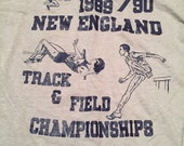 Vintage New 1989-1990 New England Track & Field Championships T-Shirt
