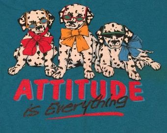 "Vintage ""Attitude is Everything"" Dalmatians T-Shirt"