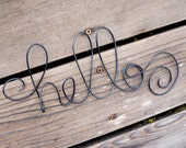 Custom Made Wire Sign For Wall, Personalized In YOUR Text