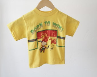 vintage SNOOPY born to win HOCKEY 3T kids toddler vintage t-shirt