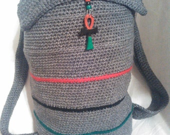 Large Crochet Backpack