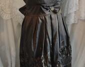 Vintage brown shiny dress