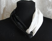 Vintage headband, black and white, or scarf