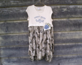 Womens, Med, Upcycled, Shabby Chic Country Dress.