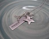Stamped Jewelry - Hockey Necklace - Hockey Mom Necklace - Personalized Jewelry - Mommy Necklace