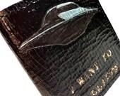 X-Files Gift, X-Files Wallet - I want to Believe - Geek boyfriend gift - Computer Geek Gift - Boyfriend Gift - Anniversary Gift - Dad Gift