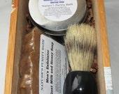 Oatmeal Milk and Honey Cigar Box Deluxe Shave/Shaving Set Kit - Oliva Serie G