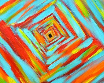 Meditation Art - 16 x 20 Free Fall - Acrylic Painting on Canvas
