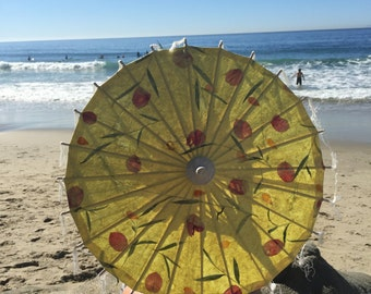 Small pressed flower umbrella yellow