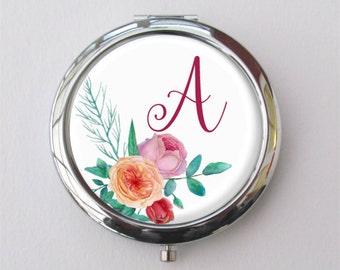Purse Mirror, Bridesmaid Gift, Personalized Compact Mirror, Bridesmaid Compact