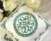 Celtic Embroidered Wedding  Eternity Knot Ring Bearer Pillow
