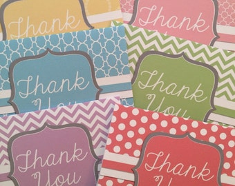 Ready to Ship, note cards, blank cards, 3.5x5 cards, thank you cards, preppy notes, pastel