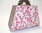 Cherry Blossoms Wooden Purse