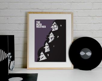 Jack White, The Dead Weather Print - A4 Size, Minimalist Band Posters, Alison Mosshart, LJ, Illustration Print, Jack White, minimal print