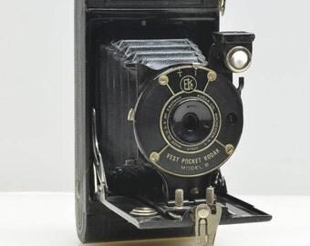 Vintage 1920's Vest Pocket Kodak Model B Folding Bellows Camera for 127 Film