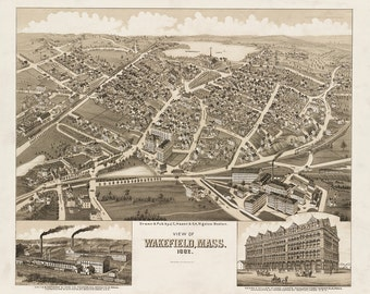 1882 View of Wakefield, Massachusetts