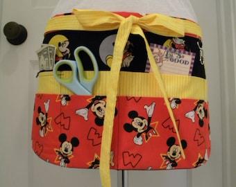 Teacher Crafter Vendor Utility Apron-Mickey Stars