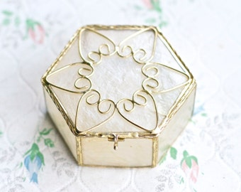 Antique Mother of Pearl jewelry Box