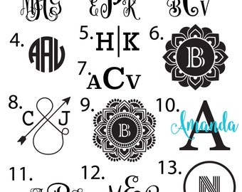 Custom Decal - Vinyl Decal, Swell Decal, Yeti Decal, Monogram Decal