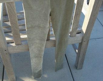 Sage velvet leggings